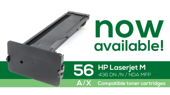 Now available HP 56 A-X compatible toner cartridges