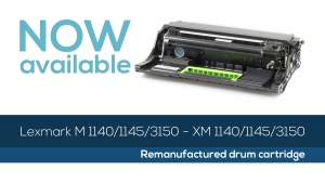 Lexmark M/XM 1140/1145/3150 Drum cartridge: now available