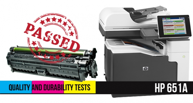 Quality and durability tests passed. Try our new Hp 651A remanufactured toner cartridges !
