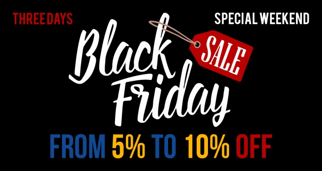 Black Friday is coming in! From 5% to 10% off on Ecoservice online product catalog