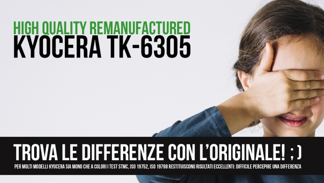 Kyocera TK-6305: Trova le differenze con l'originale!