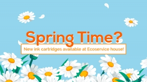 Spring Time: discover the new inkjet cartridges available at Ecoservice house!