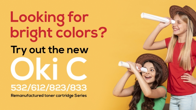 Discover the quality of the new remanufactured cartridges for Oki C 532/612/823/833