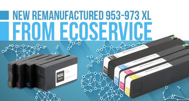 Discover remanufactured HP 953X / 973X cartridges including chips showing ink level !